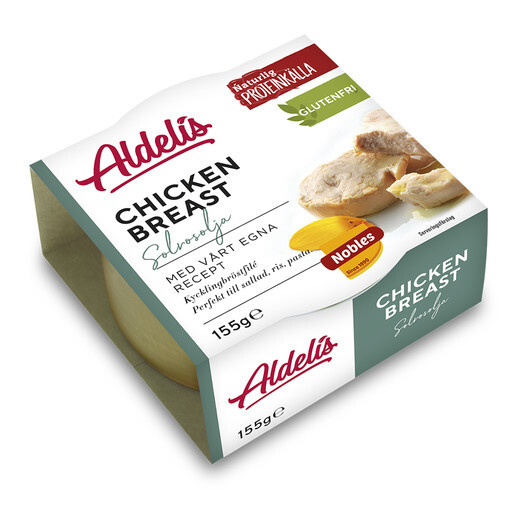 Aldelis Chicken breast Solrosolja 12-pack