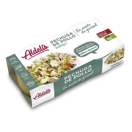 Aldelis Chicken breast Solrosolja 16-pack